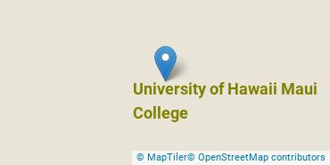 Location of University of Hawaii Maui College