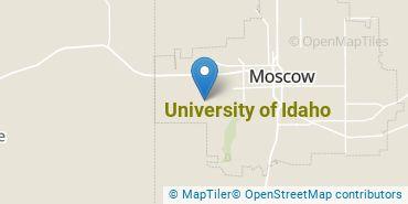 Location of University of Idaho