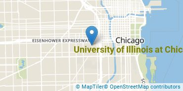 Location of University of Illinois at Chicago