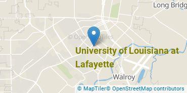 Location of University of Louisiana at Lafayette
