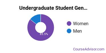 Undergraduate Student Gender Diversity at  University of Maryland - Baltimore