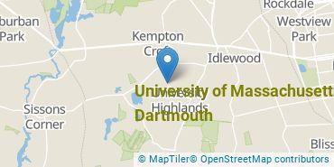 Location of University of Massachusetts - Dartmouth