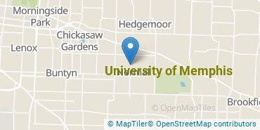 Location of University of Memphis