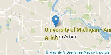 Location of University of Michigan - Ann Arbor