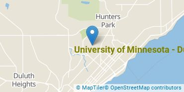 Location of University of Minnesota - Duluth