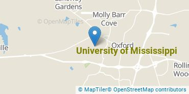 Location of University of Mississippi
