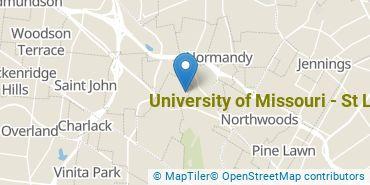 Location of University of Missouri - St Louis