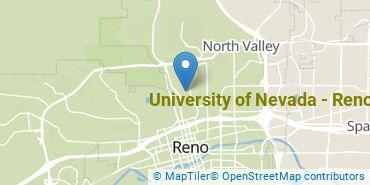 Location of University of Nevada - Reno