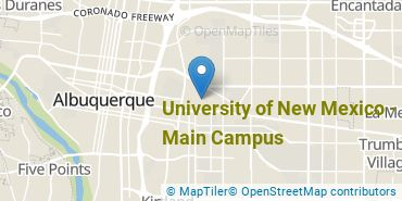 Location of University of New Mexico - Main Campus