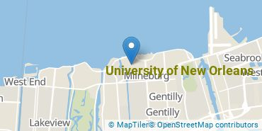 Location of University of New Orleans
