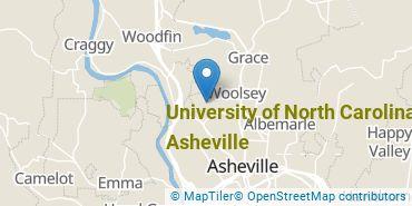 Location of University of North Carolina at Asheville