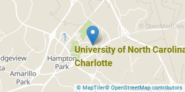 Location of University of North Carolina at Charlotte
