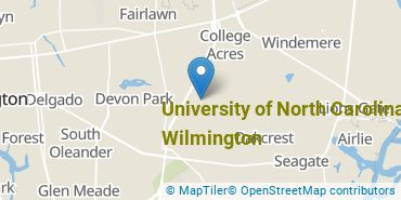 Location of University of North Carolina at Wilmington