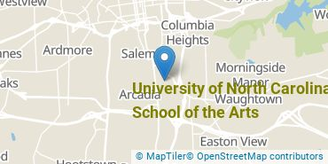 Location of University of North Carolina School of the Arts