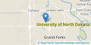 Location of University of North Dakota