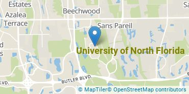 Location of University of North Florida