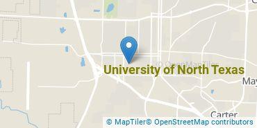 Location of University of North Texas
