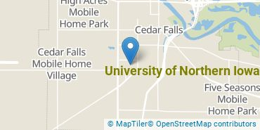 Location of University of Northern Iowa