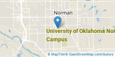 Location of University of Oklahoma Norman Campus