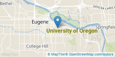 Location of University of Oregon