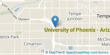 Location of University of Phoenix - Arizona