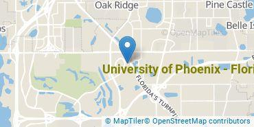 Location of University of Phoenix - Florida
