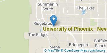 Location of University of Phoenix - Nevada