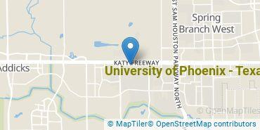 Location of University of Phoenix - Texas