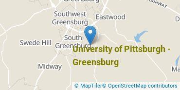 Location of University of Pittsburgh - Greensburg