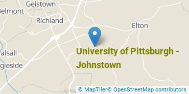 Location of University of Pittsburgh - Johnstown