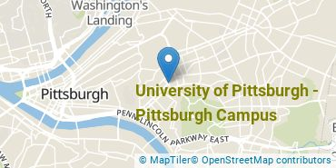 Location of University of Pittsburgh - Pittsburgh Campus