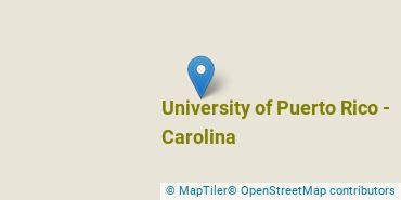 Location of University of Puerto Rico - Carolina