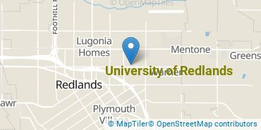 Location of University of Redlands