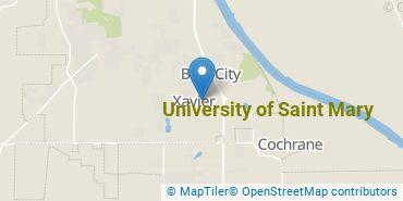Location of University of Saint Mary