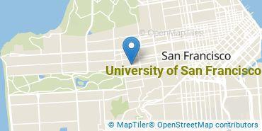 Location of University of San Francisco