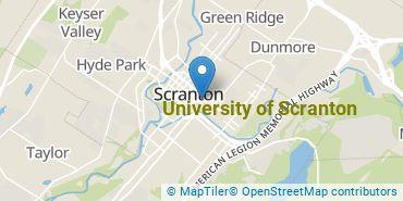 Location of University of Scranton