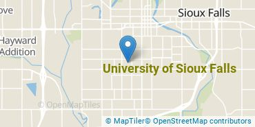 Location of University of Sioux Falls