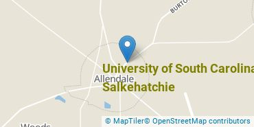 Location of University of South Carolina - Salkehatchie
