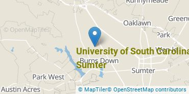 Location of University of South Carolina - Sumter