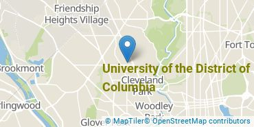 Location of University of the District of Columbia
