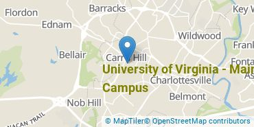 Location of University of Virginia - Main Campus