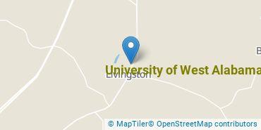 Location of University of West Alabama