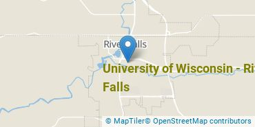 Location of University of Wisconsin - River Falls