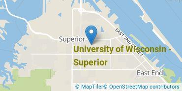 Location of University of Wisconsin - Superior