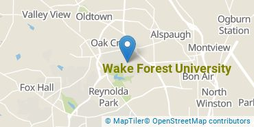 Location of Wake Forest University