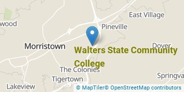 Location of Walters State Community College