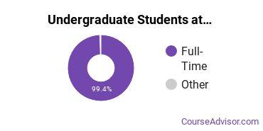 Full-Time vs. Part-Time Undergraduate Students at  Wesleyan U