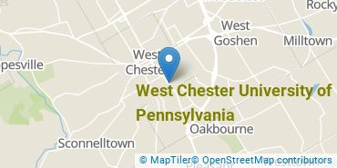 Location of West Chester University of Pennsylvania