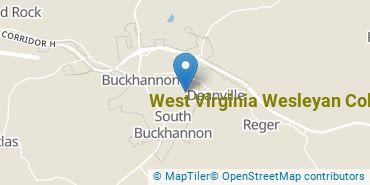 Location of West Virginia Wesleyan College