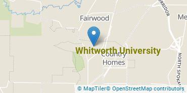 Location of Whitworth University